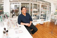 Ramy Gafni in his Ramy Beauty Therapy store.