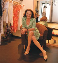 Diane von Furstenberg in her new Moscow store.