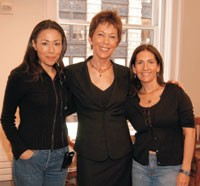 Ann Curry, Bobbi Brown Worldwide president Maureen Case and Bobbi Brown.