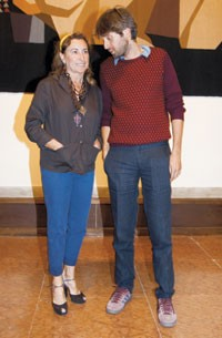Miuccia Prada and Francesco Vezzoli
