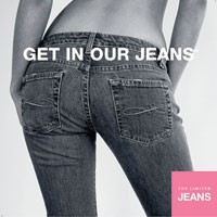 The Limited Jeans ad that will run in Limited stores.