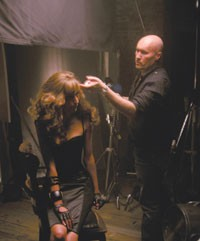 Serge Normant styles hair for John Frieda's new Brilliant Brunette ads, to air July 11.