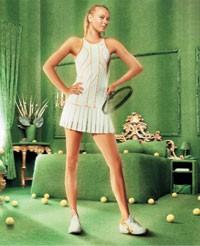 Maria Sharapova's new look for Wimbledon.