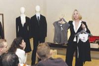 Giorgio Armani's Collette Royer offers some fashion tips.