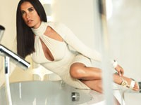 Images of Demi Moore in Versace's fall campaign shot by Mario Testino.