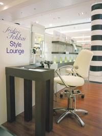 A look at the Frederic Fekkai Style Lounge in Sephora's Champs-Elysees flagship.