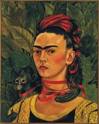 """Frida Kahlo's """"Self-Portrait With Monkey."""""""