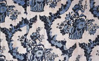 A French printed fabric from the 19th century.