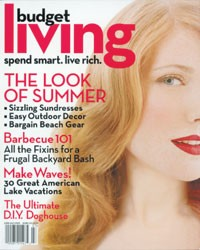 The June/July cover of Budget Living.