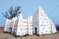 An image of Ghana's Larabanga Mosque.