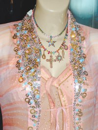 """Razzle-dazzle"" accessories were seen in Saint-Tropez and London."