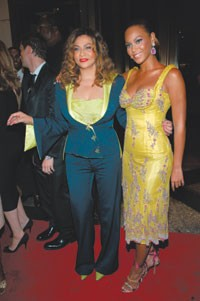 Tina and Beyonce Knowles.