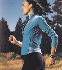 Nike's women's business has been performing well. Here, a running look.