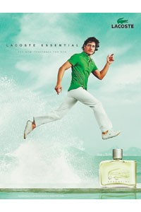 An ad visual for Lacoste Essential.