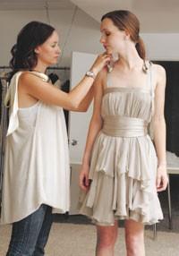 Jenni Kayne designs her sister Saree's chiffon prom dress.