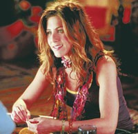 "Product placements of apparel on actresses, such as Jennifer Aniston -- seen here in ""Along Came Polly"" -- were far less influential than other marketing vehicles, notably buzz, street influences and store displays."