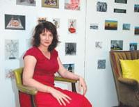 Ellen Harvey in her studio.