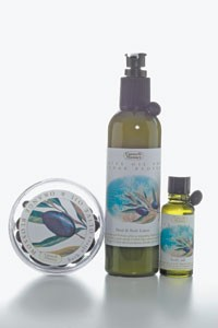 The Olive Oil and Orange Blossom line.