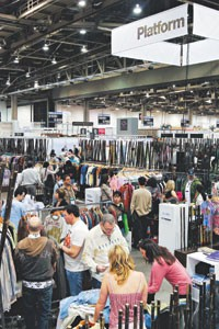 Retailers shopping Platform in Magic, one of the newest juried areas showcasing the designer segment.