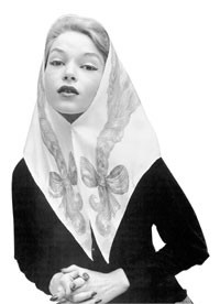 A Fifties Givenchy scarf and a Pucci scarf.