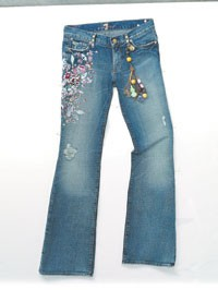 Zac Posen and Seven For All Mankind jeans.