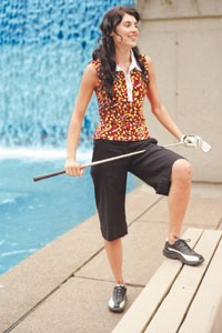 Lija combines active and leisure looks.