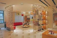 A circular salon for women's shoes.