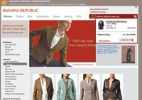 Banana Republic's revamped Web site supports upselling, with a pop-up box suggesting additional pieces that coordinate with an item placed into the online shopping bag.