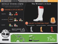 Timberland.com offers seven boot styles for online customization.