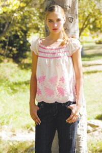 An Anna Sui top with Paper Denim & Cloth jeans for Barbie Luxe.