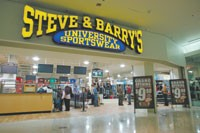 Steve & Barry's has opened at the Manhattan Mall.