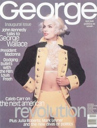 Cindy Crawford on the first cover of George.