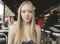 Amanda Seyfried at the Empire Diner.
