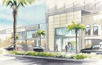 A Rendering of Coach's Los Angeles flagship.