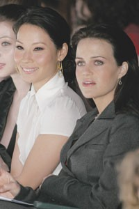 Lucy Liu and Carla Gugino