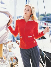 Bristol Inc.'s zip-up sweater.