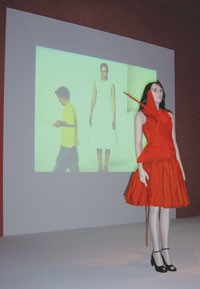 A piece from the Hussein Chalayan exhibit at the Wolfsburg Art Museum.