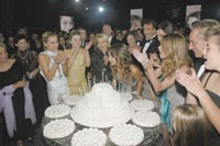 Delfina Delettrez Fendi blows out her candles.