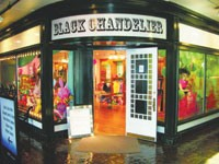 The Black Chandelier shop in Trolley Square in Salt Lake City.