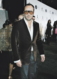 Tom Ford in sunglasses from his personal collection.