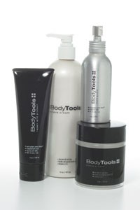 Body Tools shaving and skin care products.