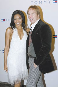 Tommy Hilfiger and Amerie in Milan.