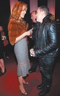 Julia Koch in Carolina Herrera with Peter Marino.