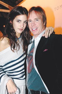 Tommy Hilfiger and Sonja Kinski.