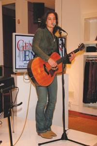 Kirstin Pierce performs.
