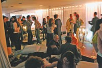 The second floor of Barneys transformed into a lounge.