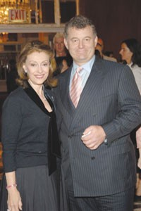 Evelyn and William Lauder at the BCRF's lunch at the Waldorf-Astoria.