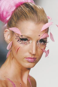 Beauty looks at Exotica at Los Angeles Fashion Week, which took place last week.