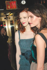 Karen Elson and Missy Rayder, both in Marc Jacobs.