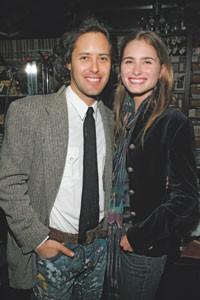 David Lauren with Lauren Bush in Ralph Lauren.